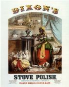Vintage Dixon's Stove Polish Advertising Poster